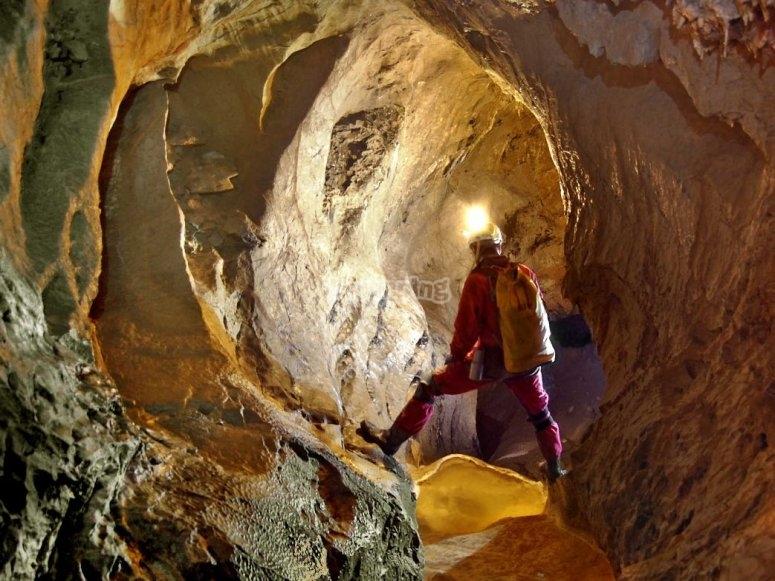 洞穴的照明区域
