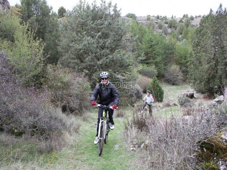 Feliz en la bicicleta