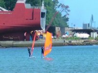 You can practice windsurfing