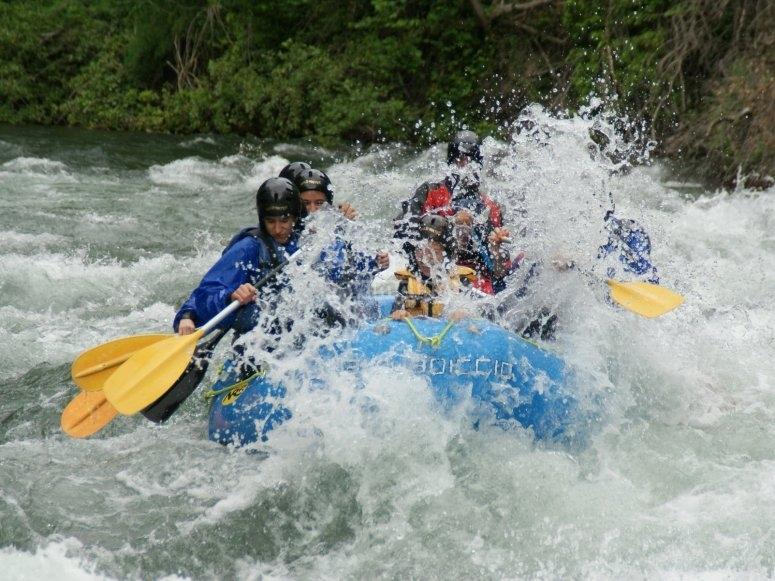 A bordo del raft en el Noguera Pallaresa