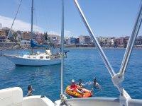 Mini barca hinchable del barco