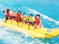 Banana boat in Almeria waters