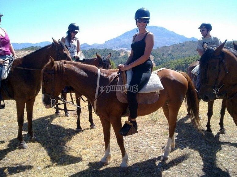 A hot day horseback