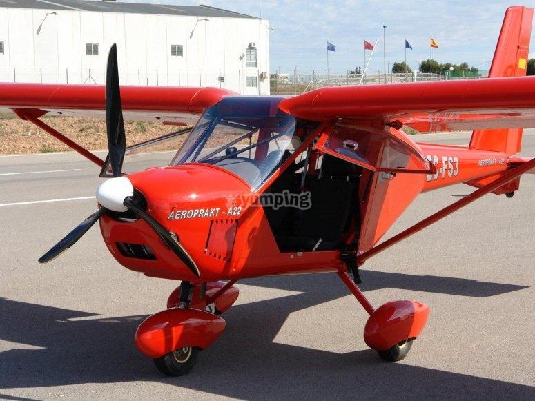 Red light aircraft