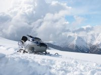 Snowmobile in the Pyrenees