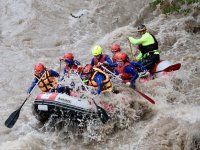 Rafting in the white waters of the Pont de Suert