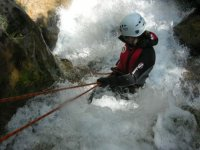 Rappel in canyoning
