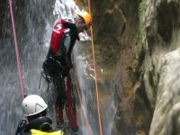Descent in rappelling