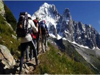 Senderismo en los Alpes