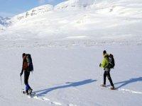 Raquetas de nieve en Laponia
