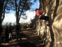First vertical climb