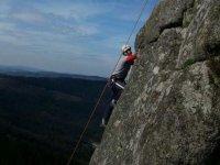 Escalando en Galicia