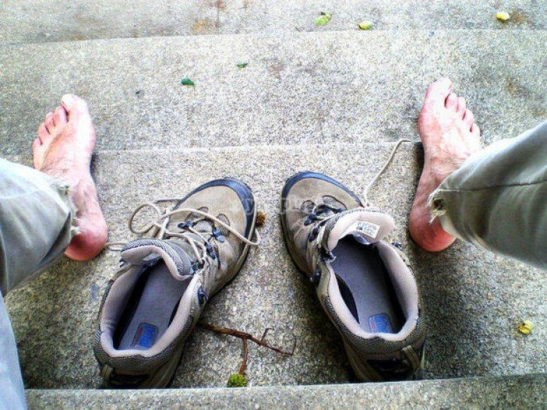 Como evitar ampollas - Airear los pies