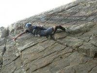 Progresando por la roca