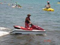 Jet ski ride along the coast of Salou