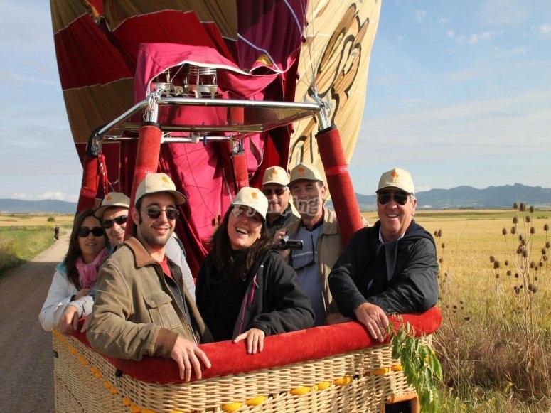 Volare in mongolfiera sopra La Rioja