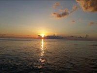Puesta de sol desde el catamaran