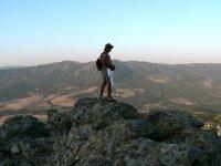 在山中行走