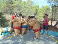 Combattimento con tute sumo