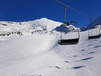 完美的环境,在内华达山脉滑雪练习雪