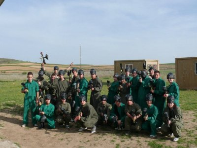 Paintball game with 500 balls in Algete