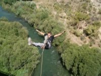 Daring with bungee jumping