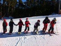Mini esquiadores en linea
