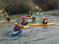 Group doing canoes