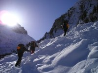 Snowshoe Climbing