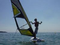 Controlando el equipo de windsurf