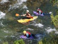 Hidrospeed con kayaks