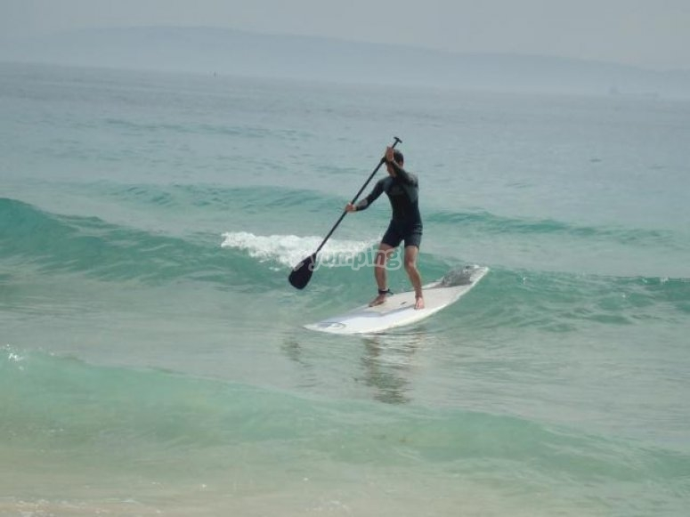 Paddle surf a Cadice