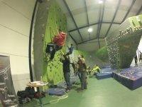 Team building climbing wall