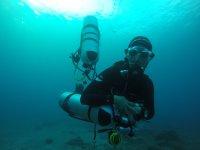 Controlando el material bajo el agua