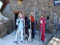 Nordic skiing practice