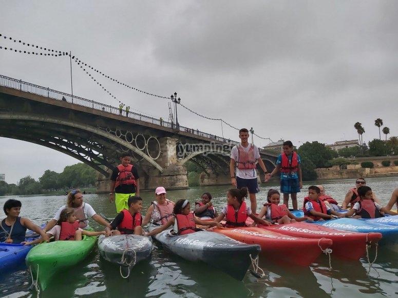 Día de kayak en buena compañía