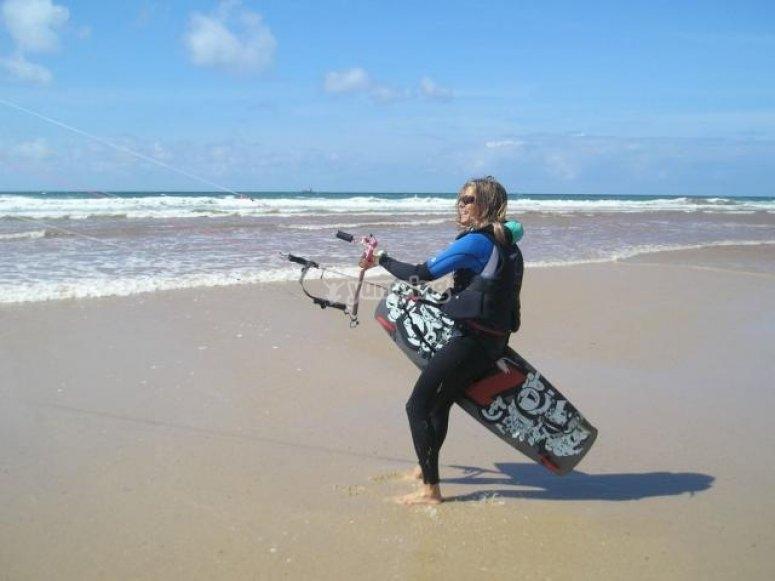 Iniciación al kitesurf