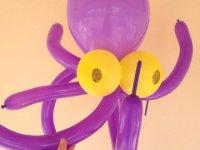 Pulpo hecho con globos