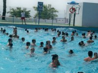 In the wave pool
