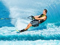 Skiing on the waves