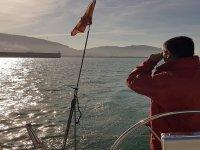 Disfrutando desde el barco del paseo