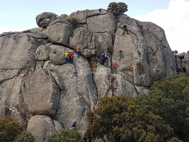 Vias de escalada