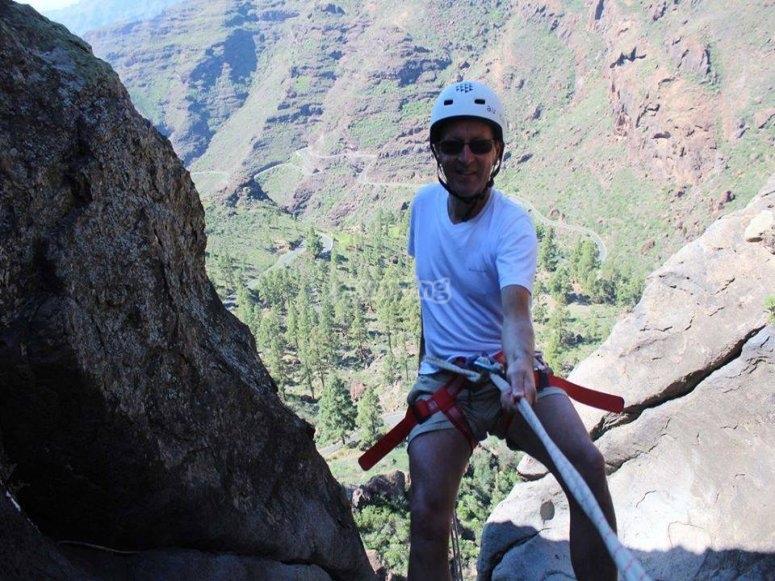 Escalando en Gran Caria