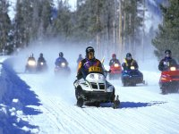 Snowmobiles on the route
