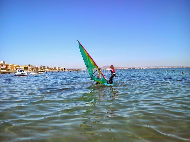 Surf en el Mar Menor en Murcia