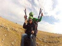 Free paragliding flight