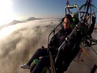 Flying between clouds