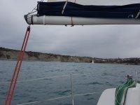 Dia nublado en el mar