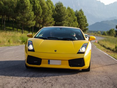 Drive a Lamborghini on the road in Barcelona