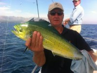 Posing with the mahi mahi